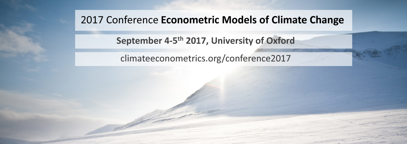 Permalink to: Econometric Models of Climate Change: Conference 2017